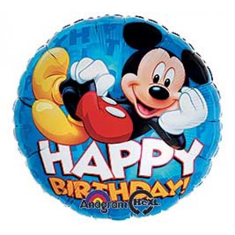 Happy Birthday Mickey Chillaxing Mylar