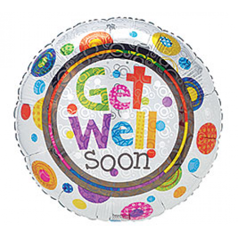 Get Well Mylar Colored Dots