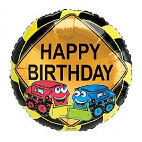 Happy Birthday Trucks Mylar