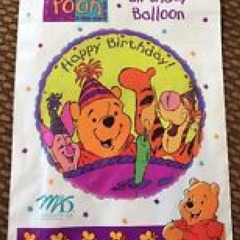 Happy Birthday Pooh Mylar