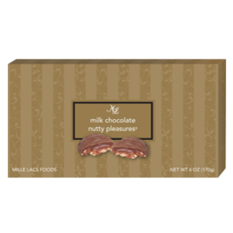 Milk Chocolates Nutty Pleasures 6 oz