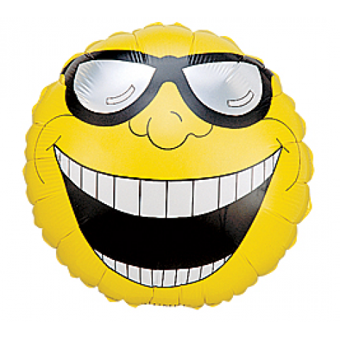 Shades Smiley Face Mylar