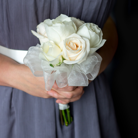 White Rose Attendant Bouquet