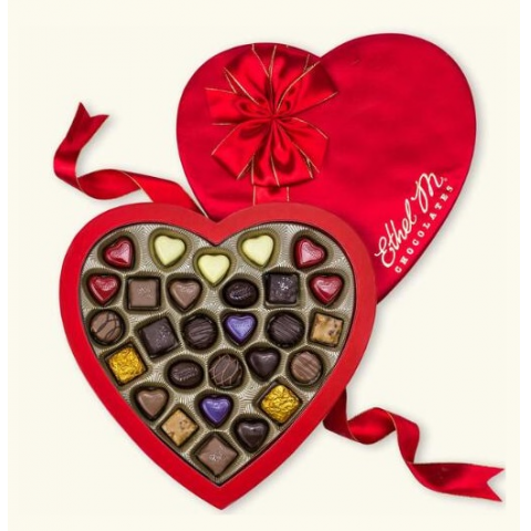 Ethel M February Collection Red Heart Box