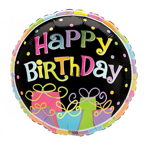 Happy Birthday Presents Mylar