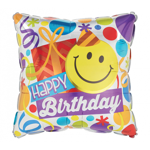 Happy Birthday Smiley Mylar