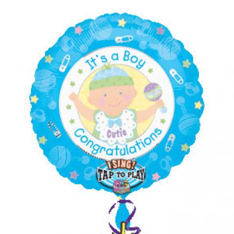 Jumbo It's a Boy Singing Balloon