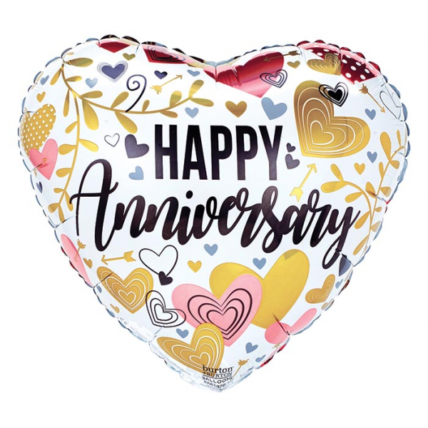 ANNIVERSARY METALLICS ON HEART