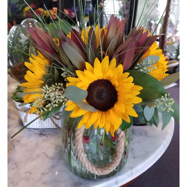 Sunflower Lantern bouquet Large