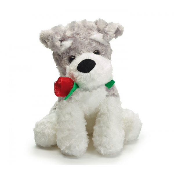 Scrappy Puppy with Rose