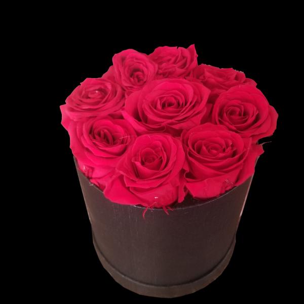 Forever Rose Black Hat Box