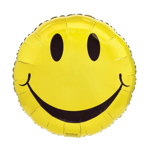 YELLOW SMILEY FACE MYLAR