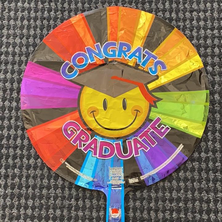 Congrats grad smiley Mylar