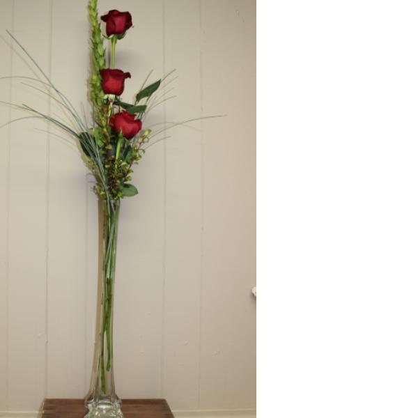 Triple Rose Tower Budvase