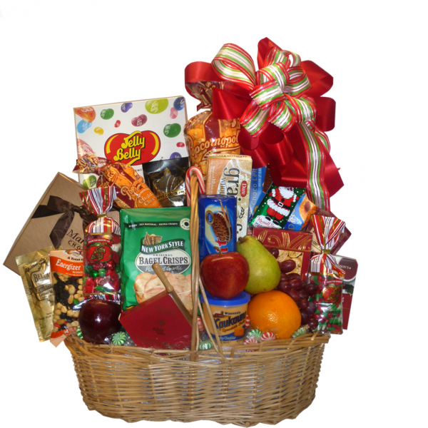 Deluxe Fruit and Goodie Basket