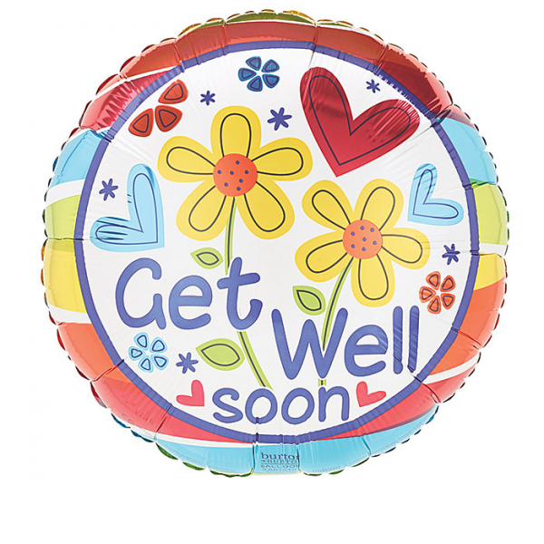 GET WELL SOON FLOWERS MYLAR