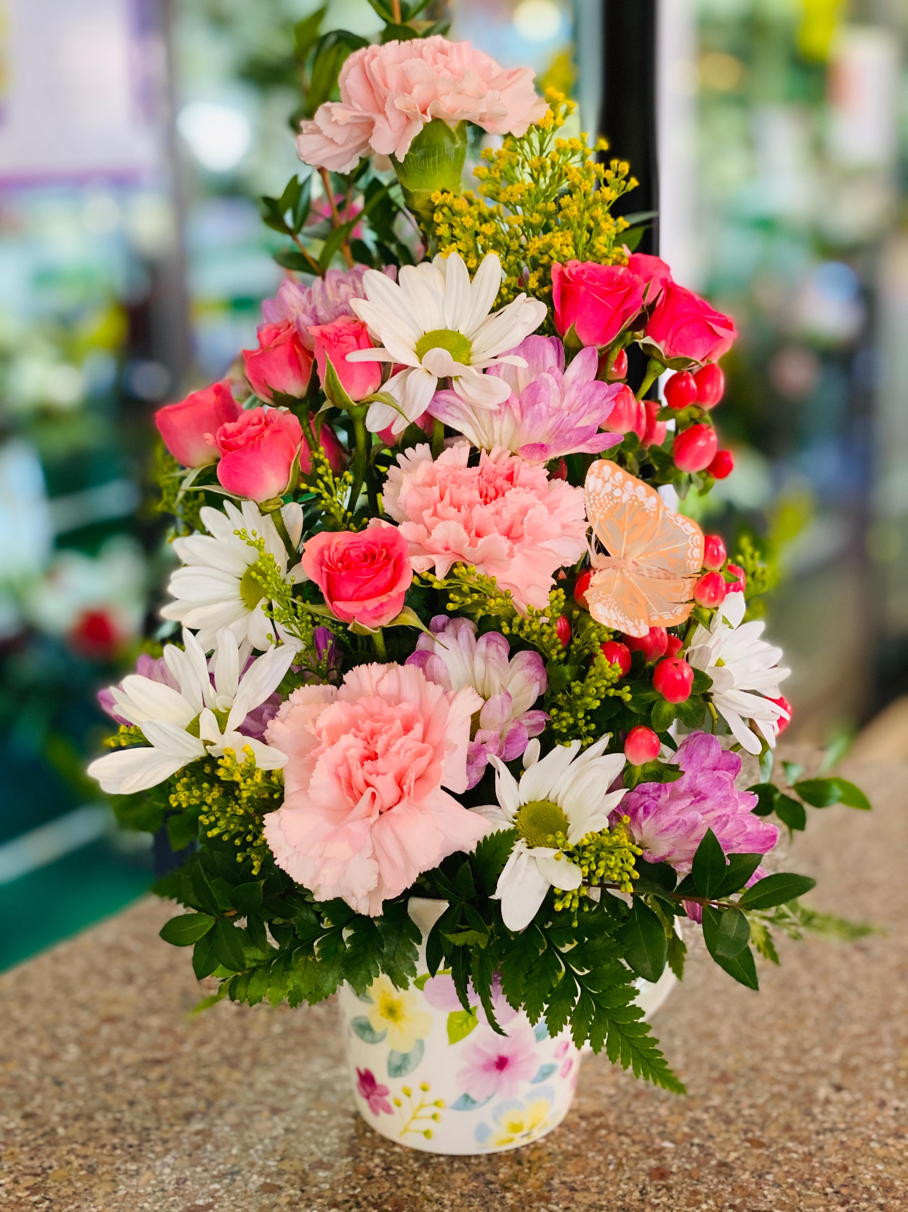 Pastel Garden Mug Bouquet