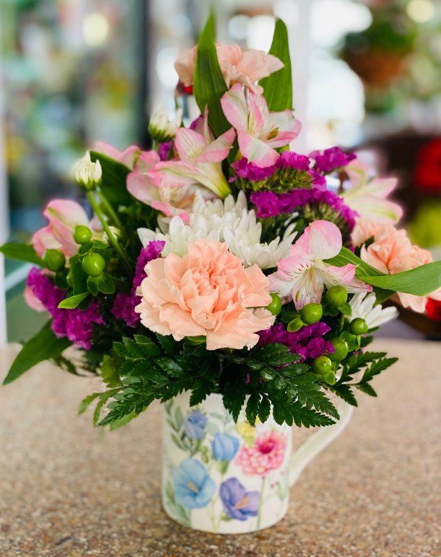 Springtime Beauty Mug Bouquet