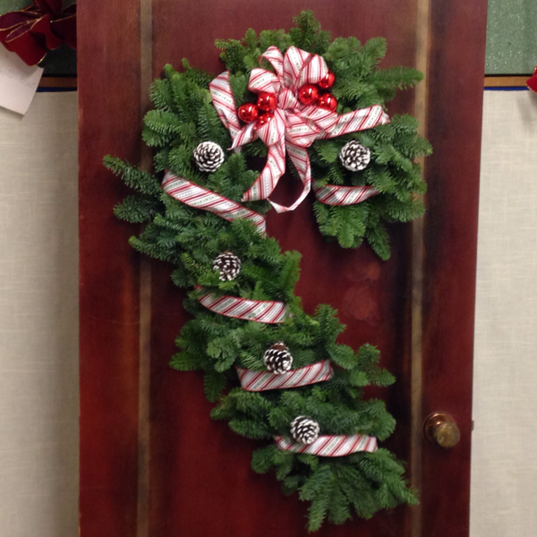 Candy Cane Door Swag