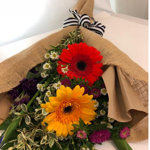 Burlap Flower Wrap