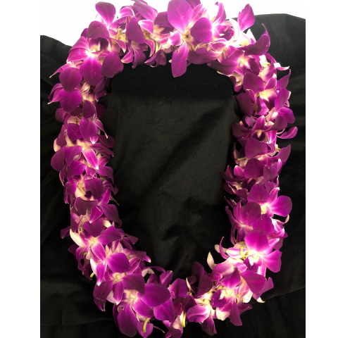 Double Purple Bombay Orchid Lei
