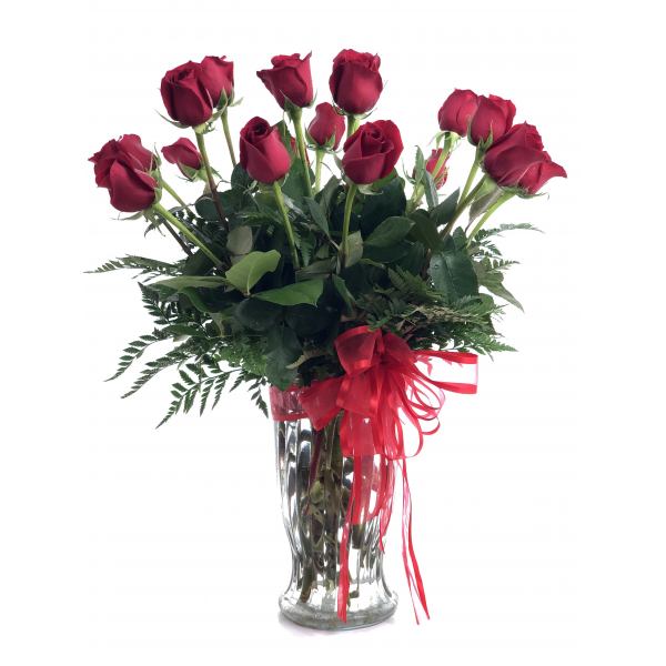 18 Premium Long Stem Red Roses