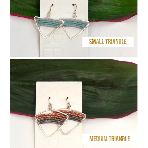 SMALL & MED. TRIANGLE EARRINGS