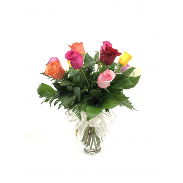 1 dz. Assorted Color Medium Stem Roses