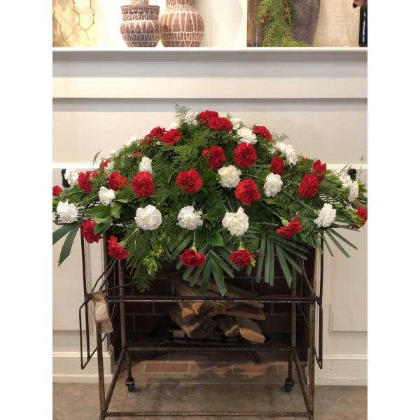 Carnation Casket Piece