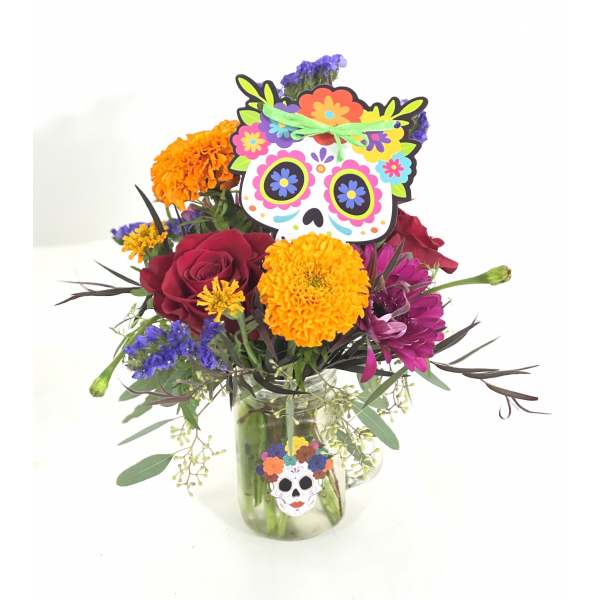 The Day Of The Dead Mason Jar