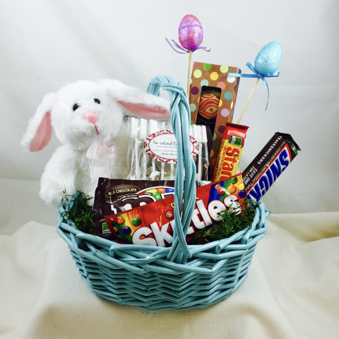 Newtown floral company newtown florist newtown flowers real easter bunny basket negle Choice Image