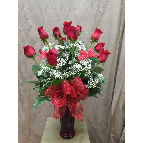 Dozen Red Roses by Park Florist