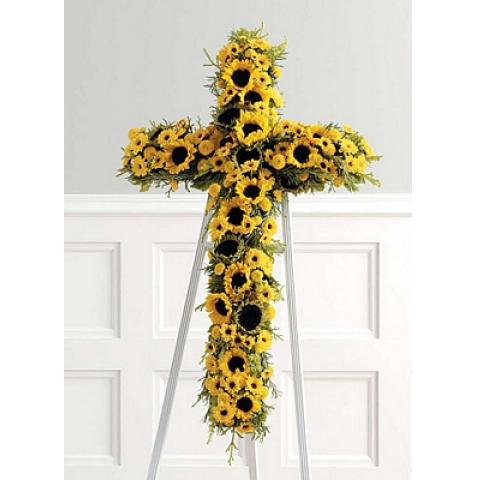 Yellow Sunflower Cross