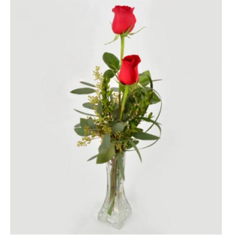 2 Rose Bud Vase