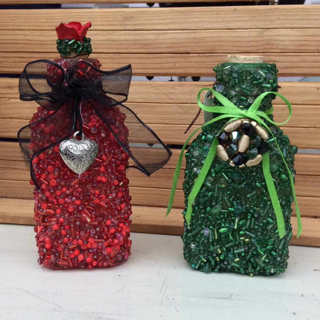 Linda's Bottles- Red & Green