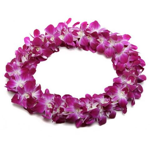 Classic Double Purple Orchid Lei
