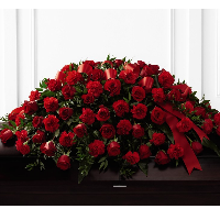 Full Casket Spray of Red Roses