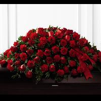 Full Casket Spray of Red Roses