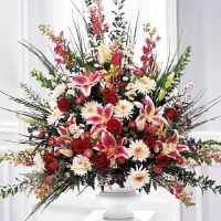 Fan Shape Floral Basket