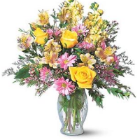Spring Arrangement Of Yellows And Filler