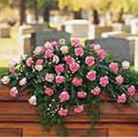 Flowing Pink Casket Spray