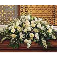 Beautiful White Casket Spray