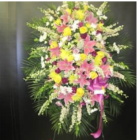 Lovely Pink, Purple & Yellow Arrangement