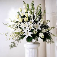 Classic All White Floral Tribute