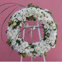 Floral Wreath On Easel