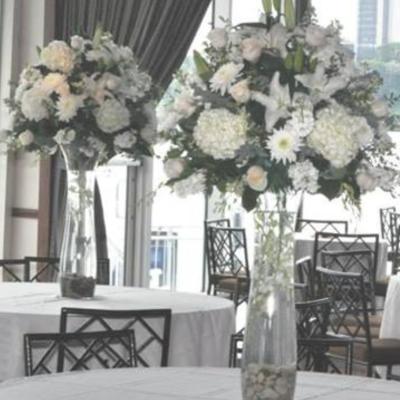 Slim White Vase Centerpiece