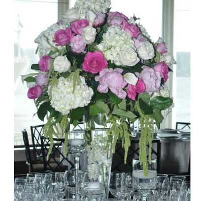 Pinks and Whites Centerpiece