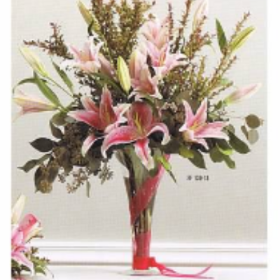 Elegant Vase of Stargazer Lilies
