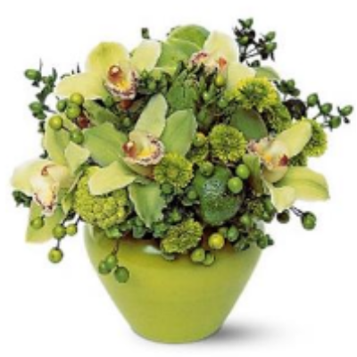 Exotic Green Cymbidium Arrangement