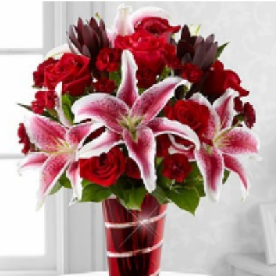 Stargazers, Roses & Larkspur